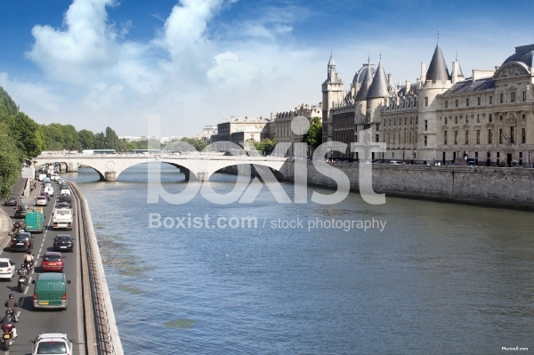 View over Sin River in Paris
