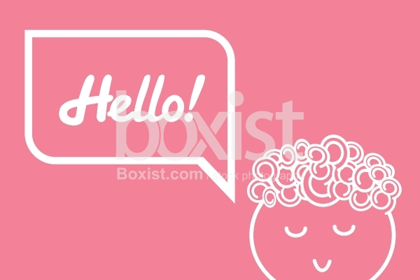 Character Saying Hello