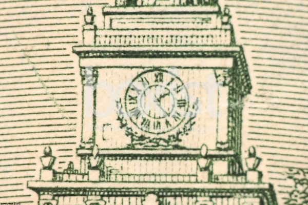 Clock Tower of Independence Hall on Hundred Dollar