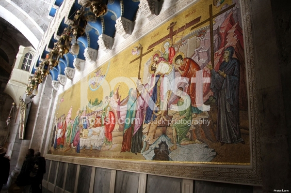 Holy Sepulchre Entrance Paint
