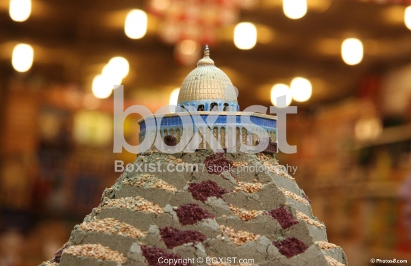 Zaatar Shop with Small Dome of the Rock Mosque