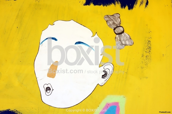 Faceless Paint on Yellow Background